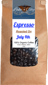 Espresso roast coffee lake city cofee coeur d'alene id